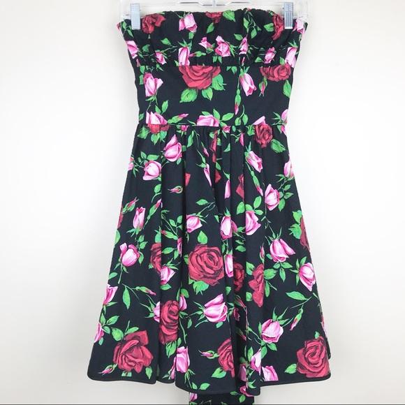 d89f57b03a8 Betsey Johnson Dresses   Skirts - Betsey Johnson collection rose strapless dress  0